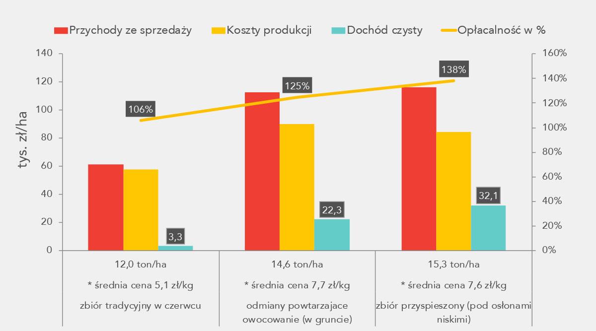 Perspektywy opłacalnej produkcji truskawki - wykres